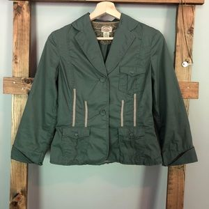 Anthropologie Sitwell Army Green Fitted Jacket